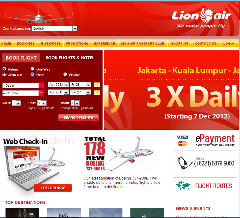 Website Lion Air