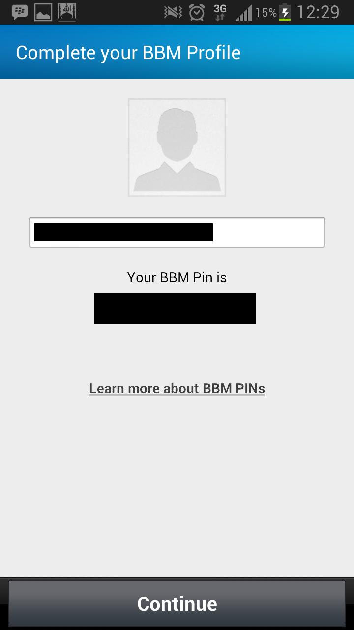 untuk mendapatkan pin BBM anda (membutuhkan email yang valid