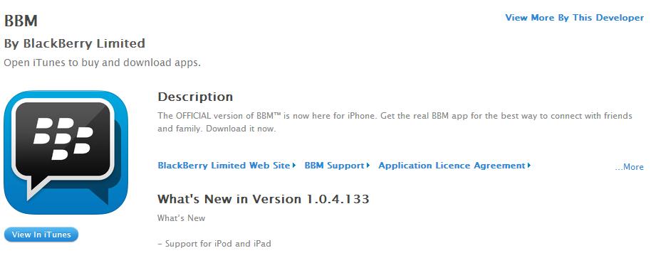 Syarat Install BBM di iPhone, iPod & iPad