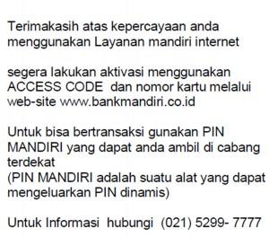 e-banking mandiri
