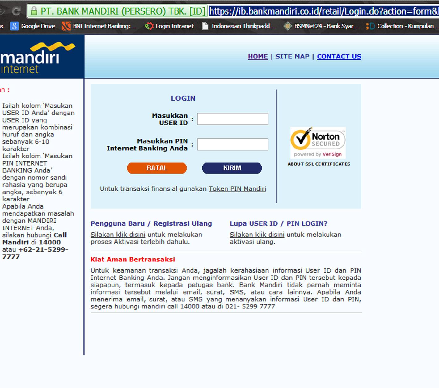 Cara Mendaftar Internet Banking Bank Mandiri Melalui Mesin