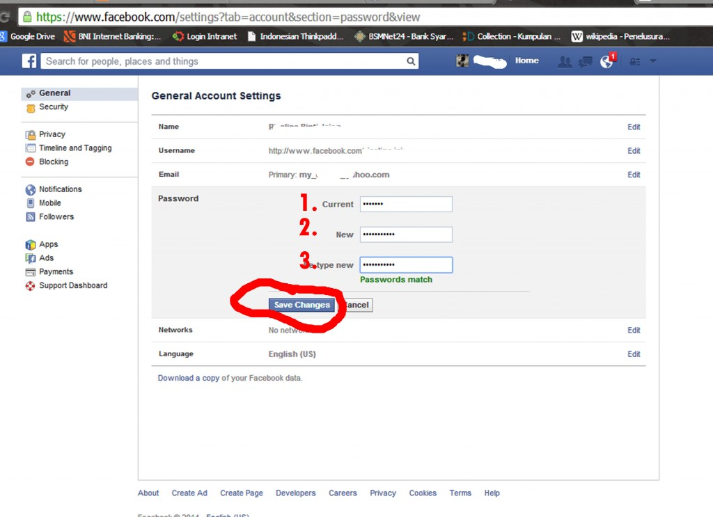 password FB 3