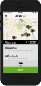 Aplikasi Grab Taxi