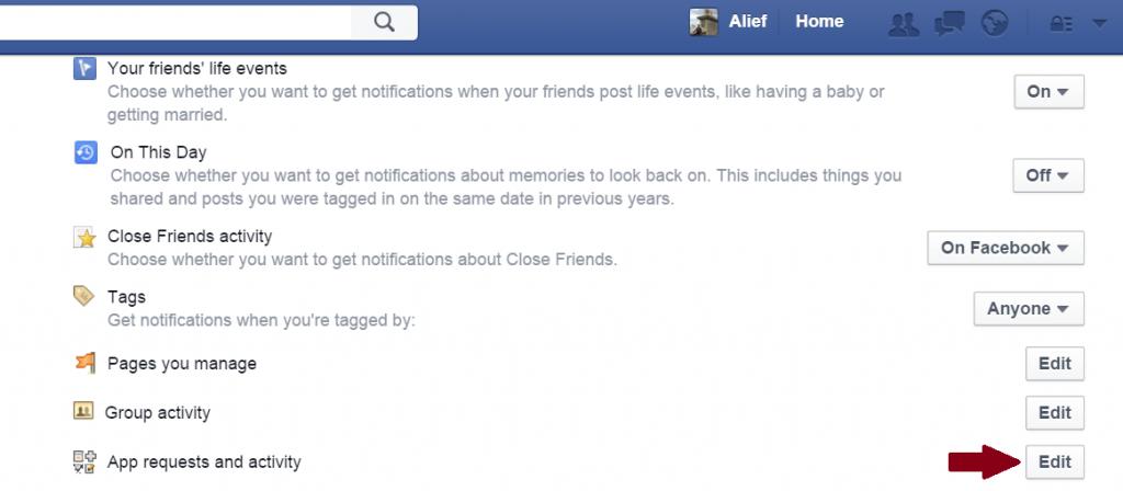 Cara Menghilangkan Notifikasi Game di Facebook 2