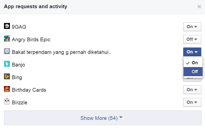 Cara Menghilangkan Notifikasi Game di Facebook 3